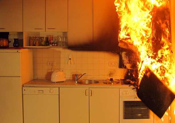 تجنب منع حرائق المطبخ